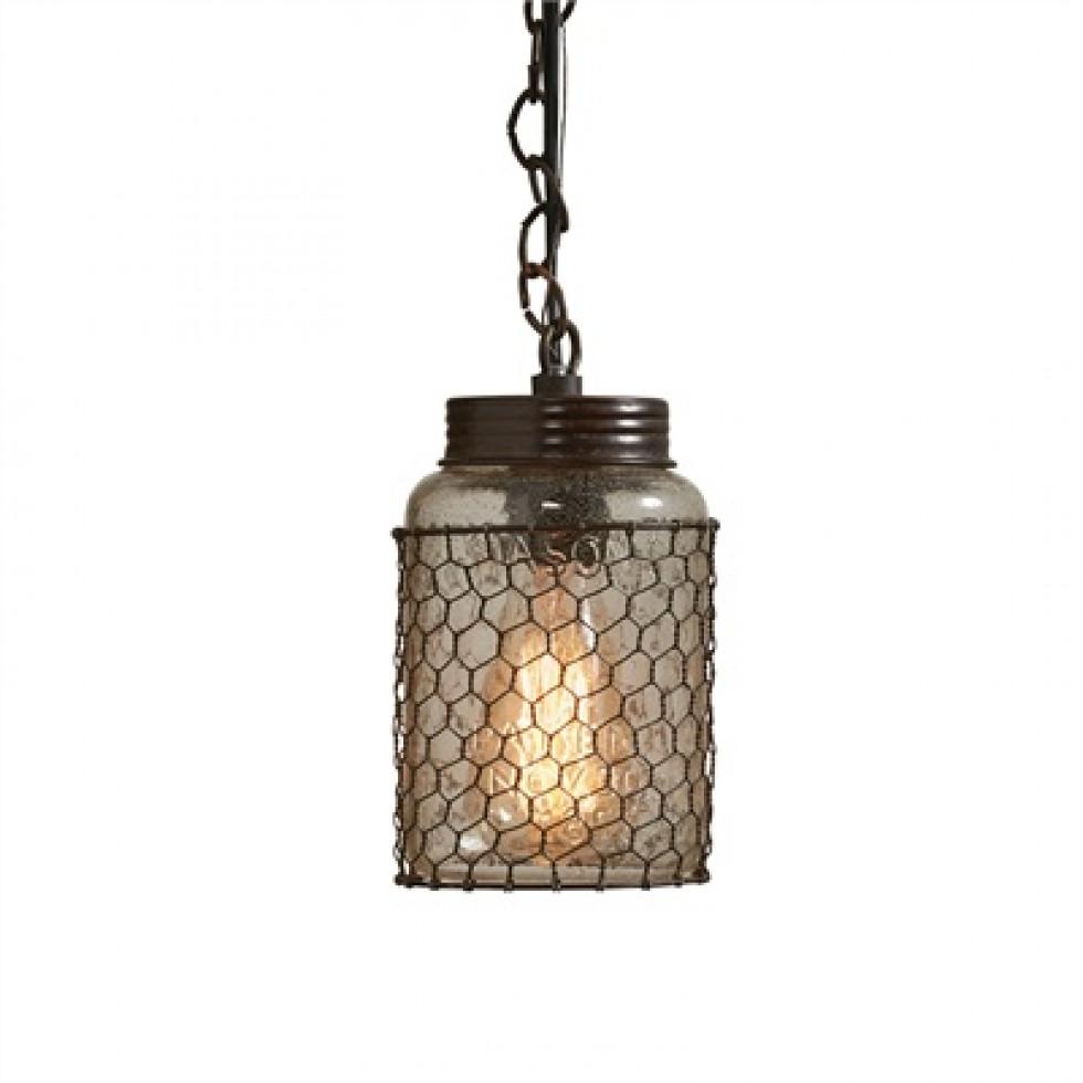 Chicken Wire Pendant Lamp 60 watt Dimensions: 7.5\