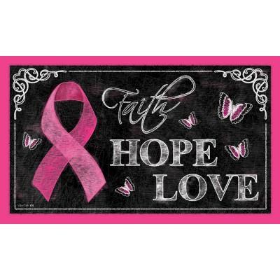 """Tapis décoratifs 30"""" x 18"""" Pink Ribbon"""