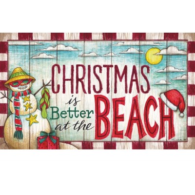 "Tapis décoratifs 30"" x 18"" Christmas at the Beach"