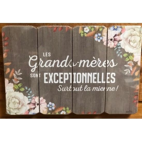 Art mural/ Plaque de Bois/ Grands Mère exceptionnelles/.../24x36x1.8CM
