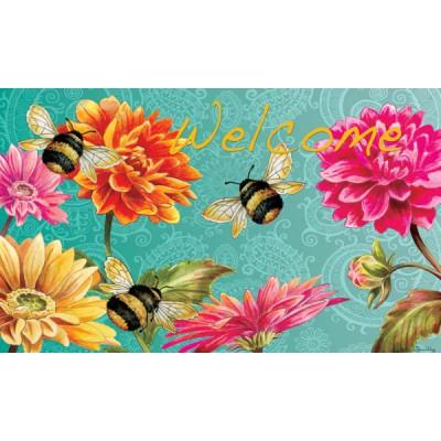 "Tapis décoratifs 30"" x 18"" Bumble Bes in the garden"