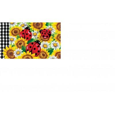 """Tapis décoratifs 30"""" x 18"""" Coccinelles sur tournesol"""