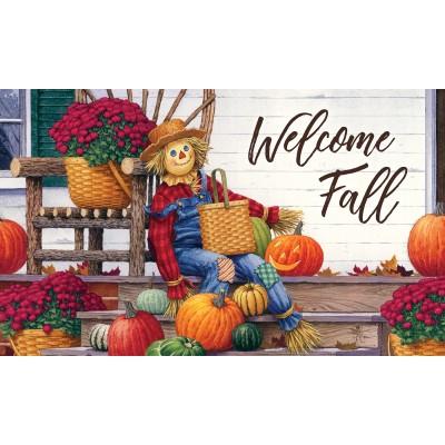 """Tapis décoratifs 30"""" x 18""""  Happy Scarecrow"""