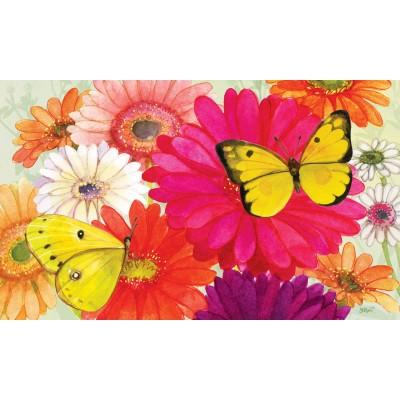 """Tapis décoratifs 30"""" x 18"""" Gerberas & Papillons"""
