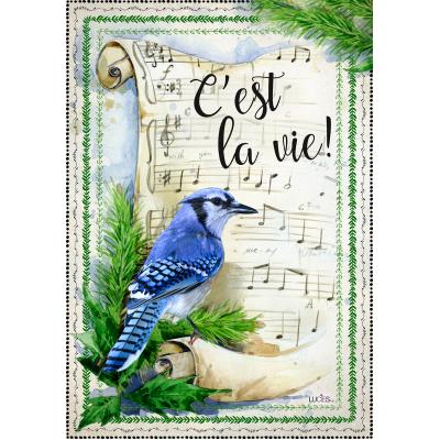 """Drapeau décoratif 28"""" x 40"""",  C'est La Vie"""