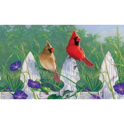 "Tapis décoratifs 30"" x 18"" Fleurs & Cardinal"