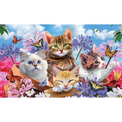 """Tapis décoratifs 30"""" x 18""""Chatons & Fleurs"""