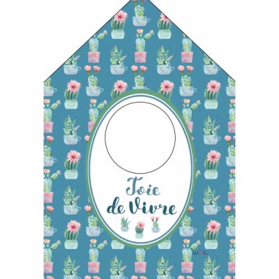 """Joie de vivre /Sac à épingle à linge, fabriqué en polyester de 10,15"""" x 19,3"""" de haut incluant l'anneau d'accrochage."""