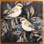 Plaque en bois décorative