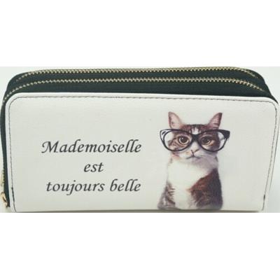 Porte-Monnaie Mademoiselle Est Toujours Belle / 19x4,5x10cm