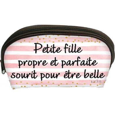 Trousse /Petit Fille propre et parfait/ 26,5x12,5x16cm