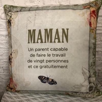 Coussin intérieur & extérieur / Maman une personne capable...