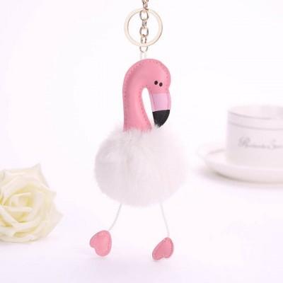 Mignon porte-clés flamant rose