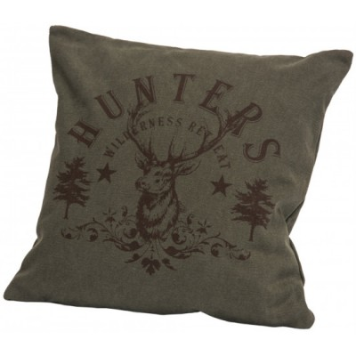 Coussin,   Canvas pillow w/printed hunters deer