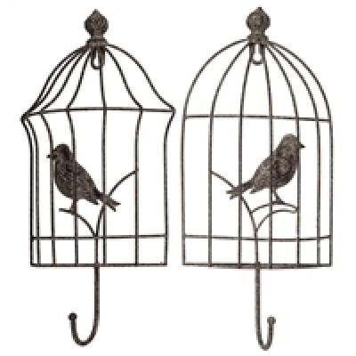 """7X1.75X12.75""""h Crochet Rustique en Forme de Cage D'Oiseaux"""