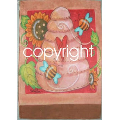 Drapeaux décoratifs 28 x 40 pouces, Miel et abeilles