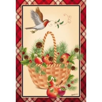 Drapeaux décoratifs 28 x 40 pouces, panier de pomme