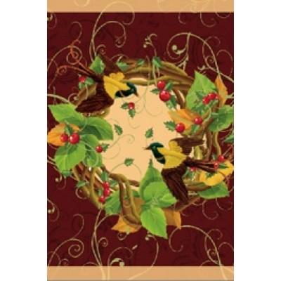 Drapeaux décoratifs 28 x 40 pouces, Couronne d'automne