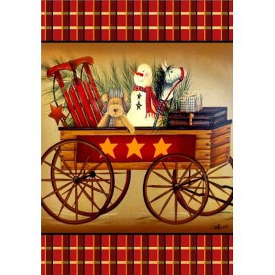 Drapeaux décoratifs 28 x 40 pouces, Chariot Festif