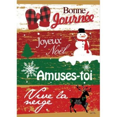 """Drapeau décoratif 28"""" x 40""""Amuses toi"""