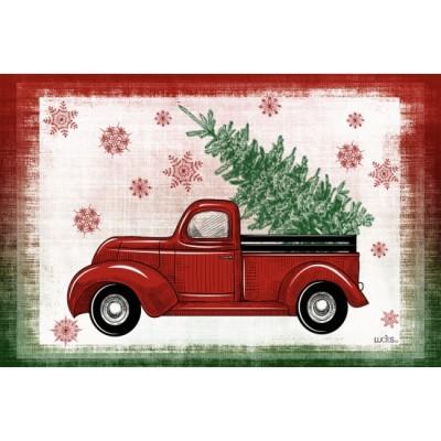 """Tapis décoratifs 30"""" x 18""""Camion Rouge"""