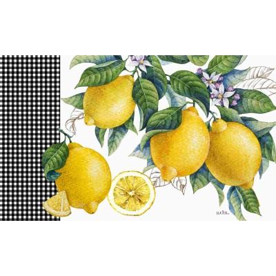 """Tapis décoratifs 30"""" x 18"""" Citrus Lemon"""