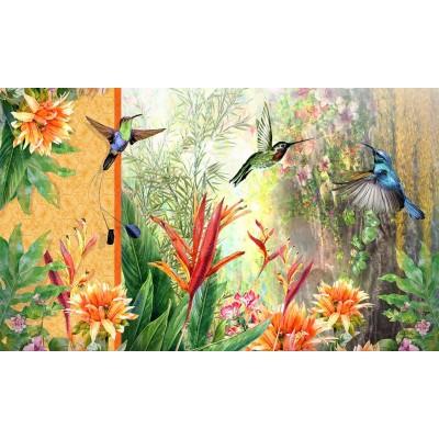 """Tapis décoratifs 30"""" x 18"""" Le jardin de juillet"""