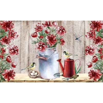"""Tapis décoratifs 30"""" x 18""""Fleurs de campagne"""
