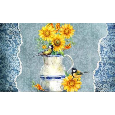 """Tapis décoratifs 30"""" x 18"""" Fleurs du Soleil"""