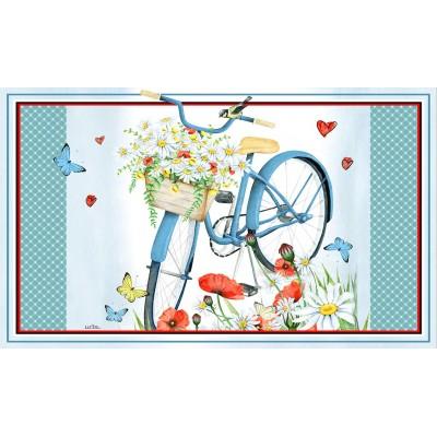"Tapis décoratifs 30"" x 18""Mon beau vélo bleu"